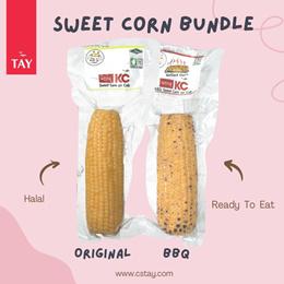 [CS Tay] Ready To Eat Sweet Corn On Cob Bundle of 6 [ 250g x 6 Pcs ]