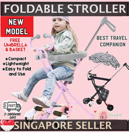 Lightweight Foldable Tricycle / Portable Stroller / Bike /Excellent for Travelling With Kids Age 2-6