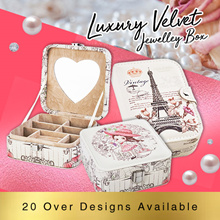 ★ Valentine Gift ideas ★ Luxury Velvet Jewelry Box/Jewelry Box/20 Over Designs★