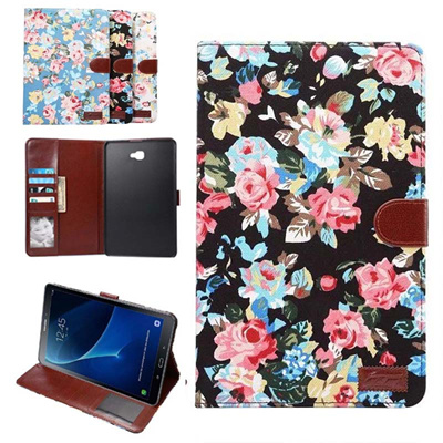 finest selection 4dbbf ccb7d pen+film+high quality Fashion Printed cloth smart Tablet Case Cover For  Samsung Galaxy Tab A6 10.1 2