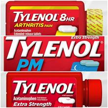 American Tylenol Tylenol Extra Strength 325 tablets / Tylenol Arthritis Pain 290 tablets / Tylenol PM 225 tablets