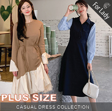 12nd Sep Update New Arrivals ♥Korean Style Dress♥ Linen Dress / Casual / LOOSE Fit  / Plus Size