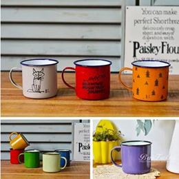 BAO ZAKKA grocery retro thickening enamel cups color cups coffee cups cups new limited