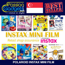 [Cheapest]♥Polaroid INSTAX MINI FILM Winnie Pooh Mickey Dory Nemo Hello Kitty Rainbow Stained Glass