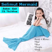 [ New Color ]  Selimut Mermaid untuk Anak Anak