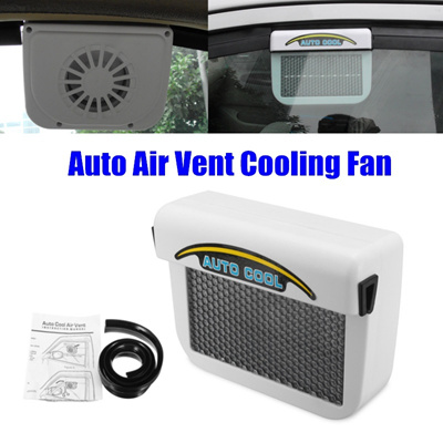 Solar Powered Car Window Windshield Auto Air Vent Cooling Fan System Cooler  Radiator for Car Cooling