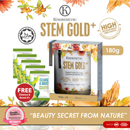 NEW! Kinohimitsu Stem Gold+ 180g (2 months supply) with 8 Gorgeous Wonders!~Timeless Beauty~