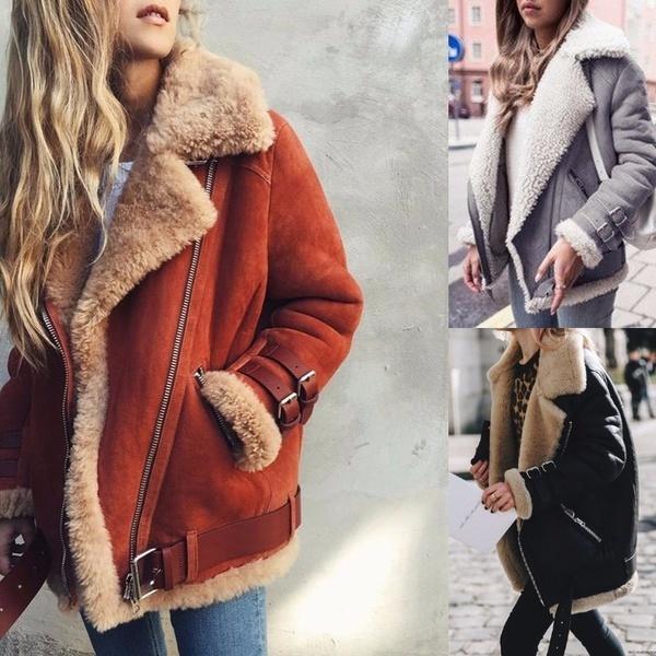 女性のファッションロングスリーブジャケットカジュアルジッパーコートS  -  5XL XY5569