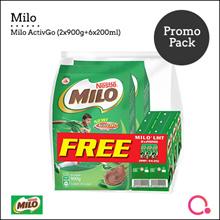 [NESTLE]【MILO®】 ACTIV-GO 900g x2 (FREE UHT 6x200ml)