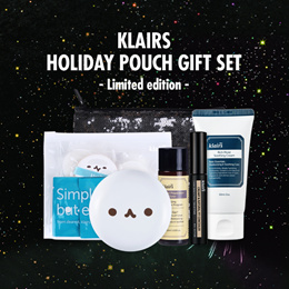 FREE SHIPPING / 48% OFF KLAIRS/ BY WISHTREND Holiday Pouch Gift Set (Limited Edition)+FREE SHIPPING