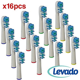 Oral B Replacement Brush Heads- Pack of 16 Oralb Braun Dual Clean Electric Toothbrush  Heads 34203756cb1f
