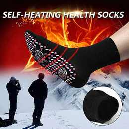 【1+1 DEAL】 Self Heating Tourmaline Socks Therapy Magnetic Socks Anti-Freezing Warm Foot Outdoor