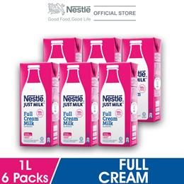 NESTLE JUST MILK Full Cream 1L (Bundle of 6)