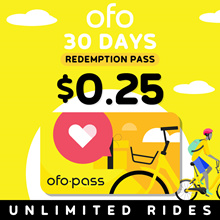 [ofo SG] 30 Days ofo SG Pass at $0.25 ONLY! U.P $18. WHILE STOCKS LAST!! HURRY!