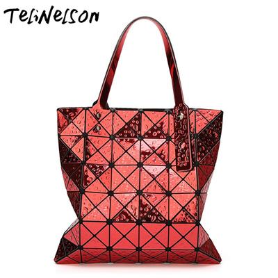 0f0eed3d0d24 Water Drop Geometrics Bag Baobao 2018 6*6 Sequins Mirror Laser Plain Fold  Over Fashion Bags Handbags