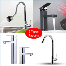 Sink Tap Faucet Bathroom Basin sink Mixer Copper 304 Stainless Tap ware Cetaphil Chrom-Plate