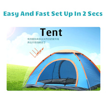 Outdoor Camping Tent Light Weight Tent Beach Tent For 2/4 Persons Fast Open In 2 Seconds