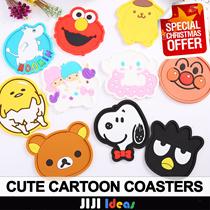 ★Christmas gifts★Cup Coaster Cartoon Mug Coasters/Christmas Party Gift Ideas/Hello Kitty/Rilakkuma/D
