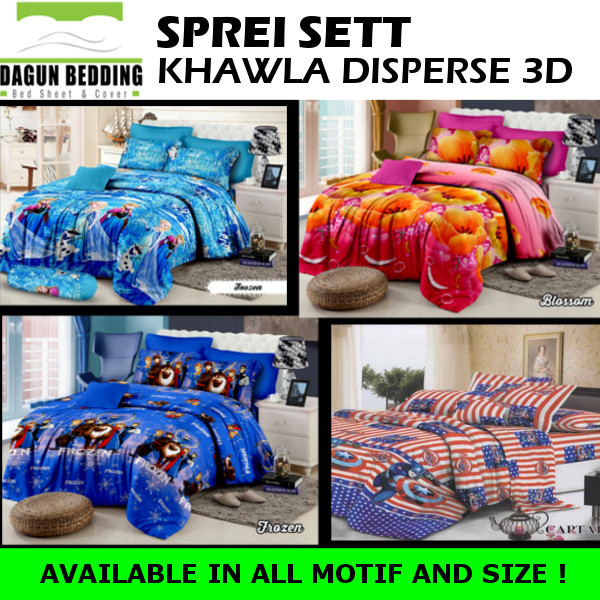 Sprei Sett Khawla Disperse 3D / Sprei Deals for only Rp60.000 instead of Rp60.000