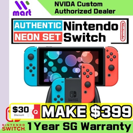 (Local set) Nintendo Switch Console System // Neon // Grey // Local 1 Year Warranty