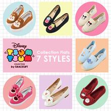 Gracegift-Disney Tsum Tsum Collection Flats/Women/Ladies/Girl Shoes/Taiwan Fashion