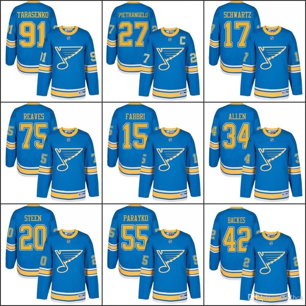 super popular 1f900 5b83b 2017 Winter Classic Premier St. Louis Blues Men' s 27 Alex Pietrangelo 91  Vladimir Tarasenko 17