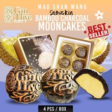★USE Qoo10 Coupon $8★Snowskin Bamboo Charcoal Mao Shan Wang Mooncake[100% MSW Paste]