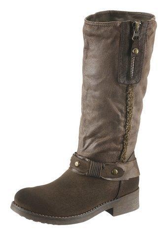 Direct from Germany Arizona Stiefel Stiefelette Boots Warmfutter Braun Damen