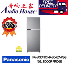 PANASONIC NR-BD460VPSG 405L 2 DOOR FRIDGE