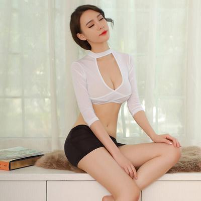 631801decc07 The Sexy Seduction of Fei mu short chest skinny jacket bag hip skirt suit  sexy underwear