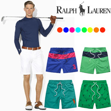 【POLO Casual POLO 10 Pants* 】100% Cotton Mens Beach Shorts Summer Swimmer Short Pants Man Casual
