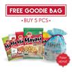 GET 5PCS [ SPECIAL PROMO!!  FREE GOODIE BAG ] MAYASI KACANG JEPANG 65GR / ANEKA PILIHAN RASA