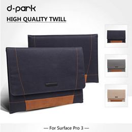 100% original D-park Microsoft Surface pro 4 3 laptop bag / case bag for notebook 12 inch sleeve for surface pro 4 3 12 12.3 inch