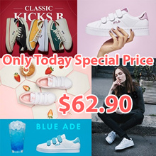 ★Only Today Special Price $62.9★New Arrivals★100% Authentic FILA Original 20Type Womens Coat DELUXE Canvas Velcro Sneakers ★Free Shipping★