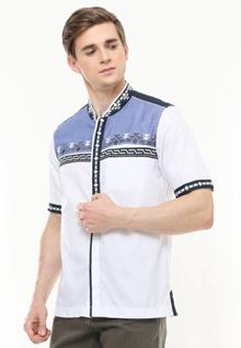 LGS - Slim Fit - Baju Koko - Motif Placket - Variasi Warna - Putih - JSH.383.S818KF.248.C JSH.383.S8