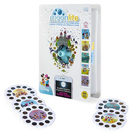 Moonlite - Special Edition Disney Gift Pack, Storybook Projector for Smartphones with 5 Story Reels,