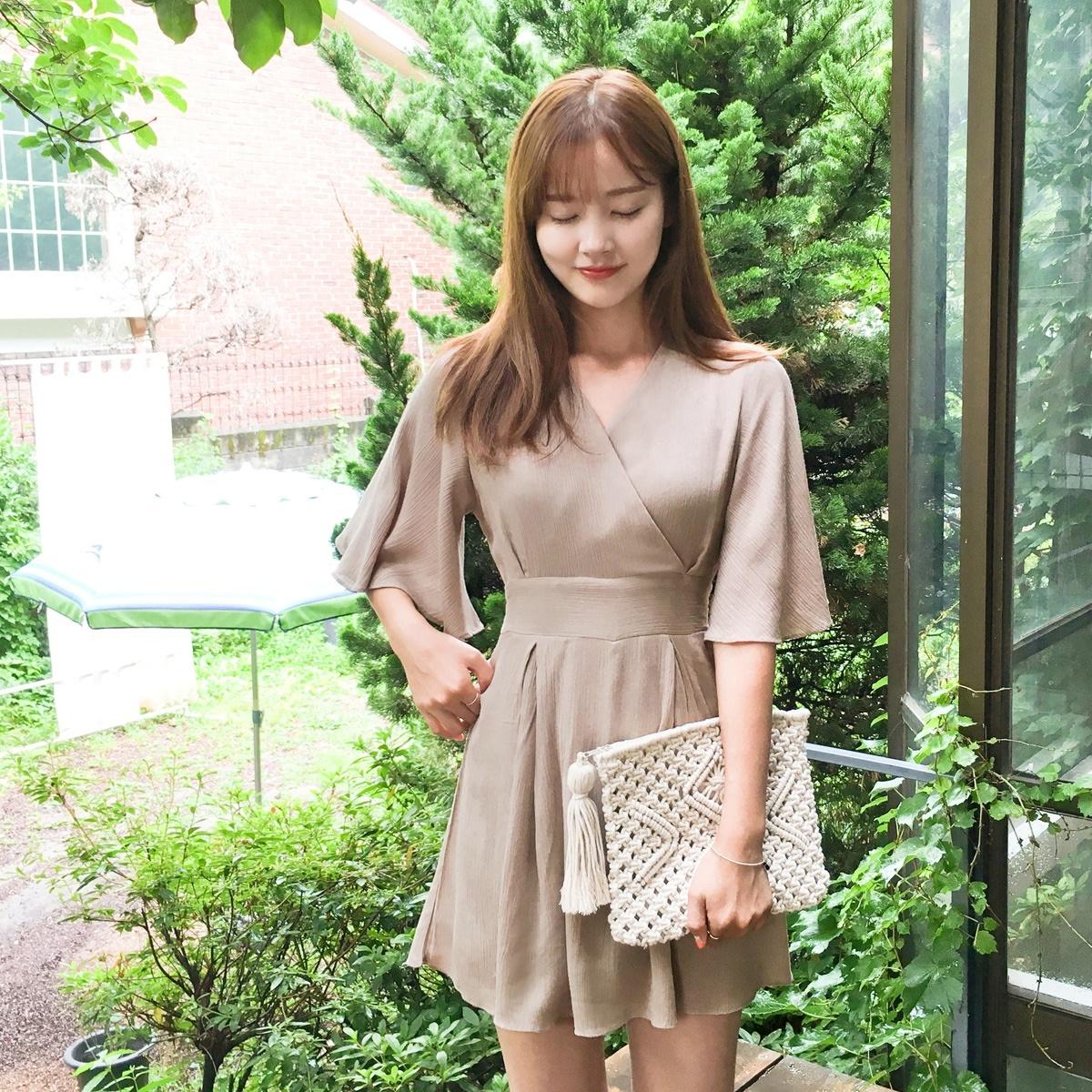 [CHERRYKOKO官方旗艦店] V領飾帶連身褲 / ruruya jumpsuit