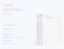BTS LOVE YOURSELF 承 Her (5TH MINI ALBUM) 4 version SET CD+Photobook+Photocard+4 Folded Poster