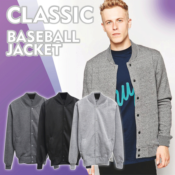 New Item! High Quality Classic Baseball Jacket for Classy men / High Quality Material Deals for only Rp39.000 instead of Rp39.000