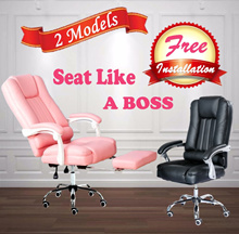 Recliner Director Chair - Option add on Massage Function and Foot Rest