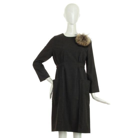 レコブ女性衣類サイドギャザーしわ・トゥ・ポケットチェックワンピースLF216ZOP085X 面ワンピース/ 韓国ファッション