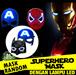 SUPERHERO MASK ~ Topeng Action Figure ~ Dengan Lampu LED