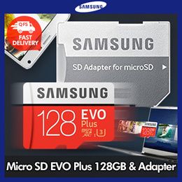 Samsung Micro SDXC Memory Card EVO Plus 128GB with SD adapter