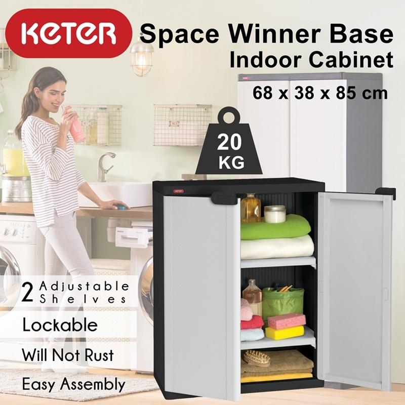Qoo10 - [KETER] Space Winner Base Indoor Storage Plastic Cabinet ...