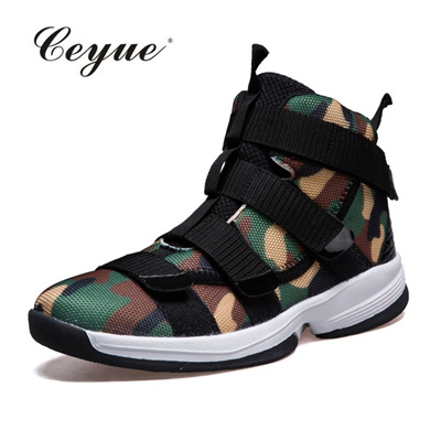 on sale 28e65 0a889 2017 Ceyue Men Basketball Shoes Lebron James Shoes High top Lace up Ankle  Shoes Sports Shoes Air cus