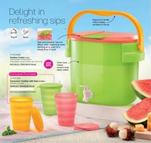 Tupperware Outdoor Cooler 8.7L Light Green Mix Pink