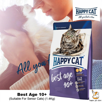 Happy Cat Senior Best Age 10+ Cat Dry Food I 1.4Kg I Support Joint Health I Made In Germany: Rating: 0: Free~: S$39.90 S$23.90