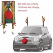 Car Reindeer Antlers Red Nose Set / Reindeer Vehicle Costume / Car decoration Christmas / Reindeer