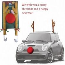 Car Reindeer Antlers Red Nose Set / Reindeer Vehicle Costume / Car decoration Christmas / Reindeer