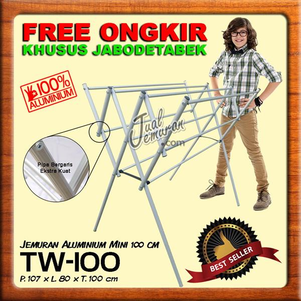 FREE SHIPPING JABODETABEK / Jemuran Baju Aluminium Mini 100 dan 80 cm Deals for only Rp155.000 instead of Rp155.000